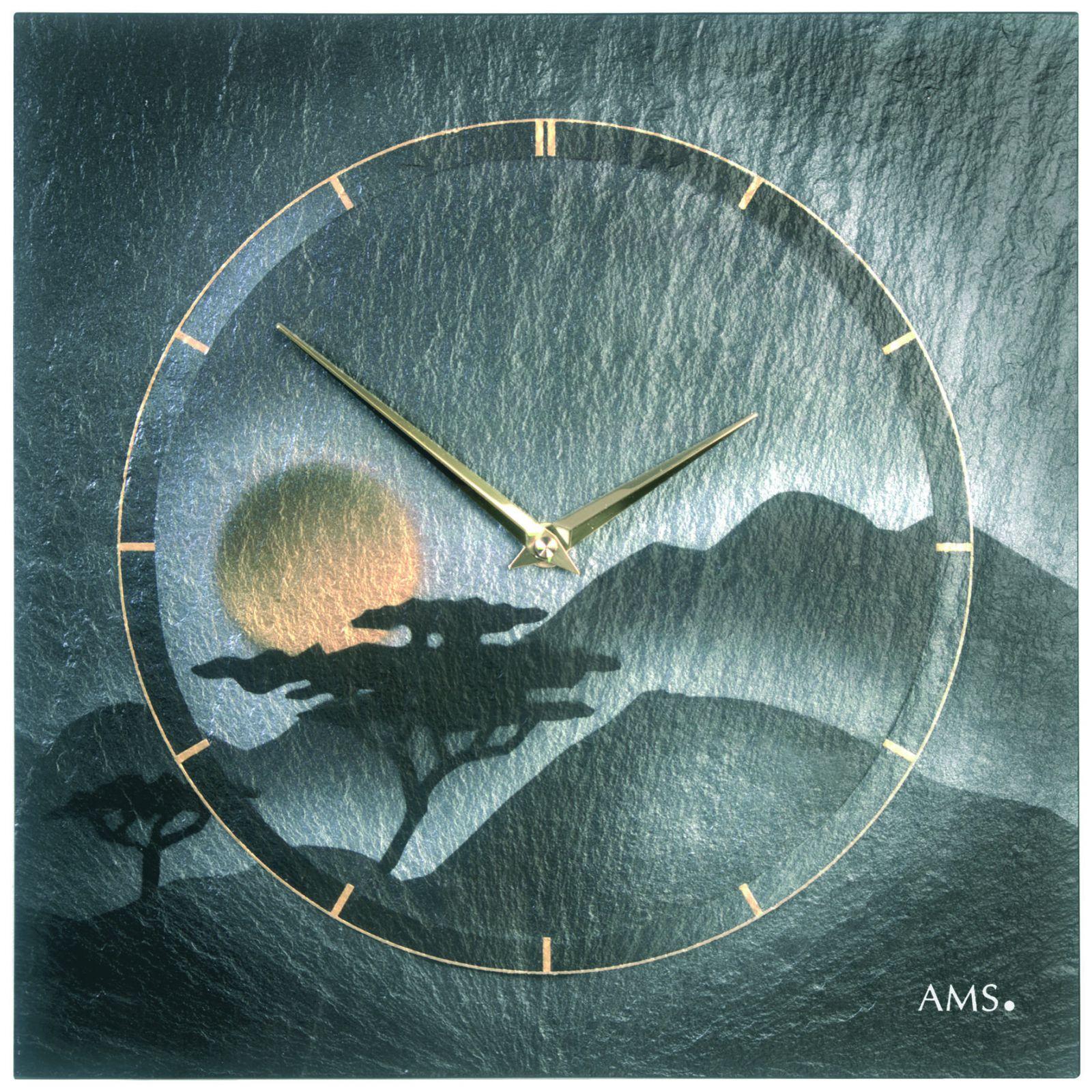 Designové nástěnné hodiny AMS 9514 s motivem