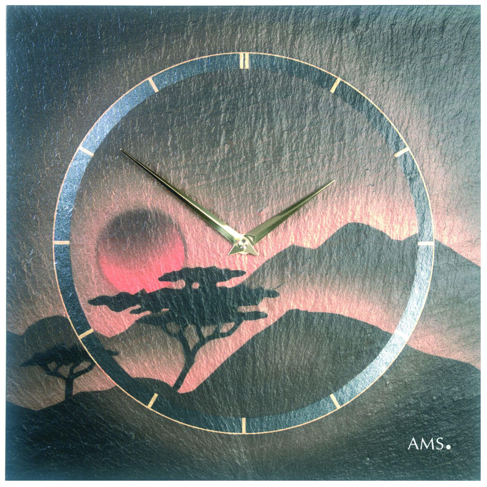 nástěnné břidlicové hodiny ams 9515