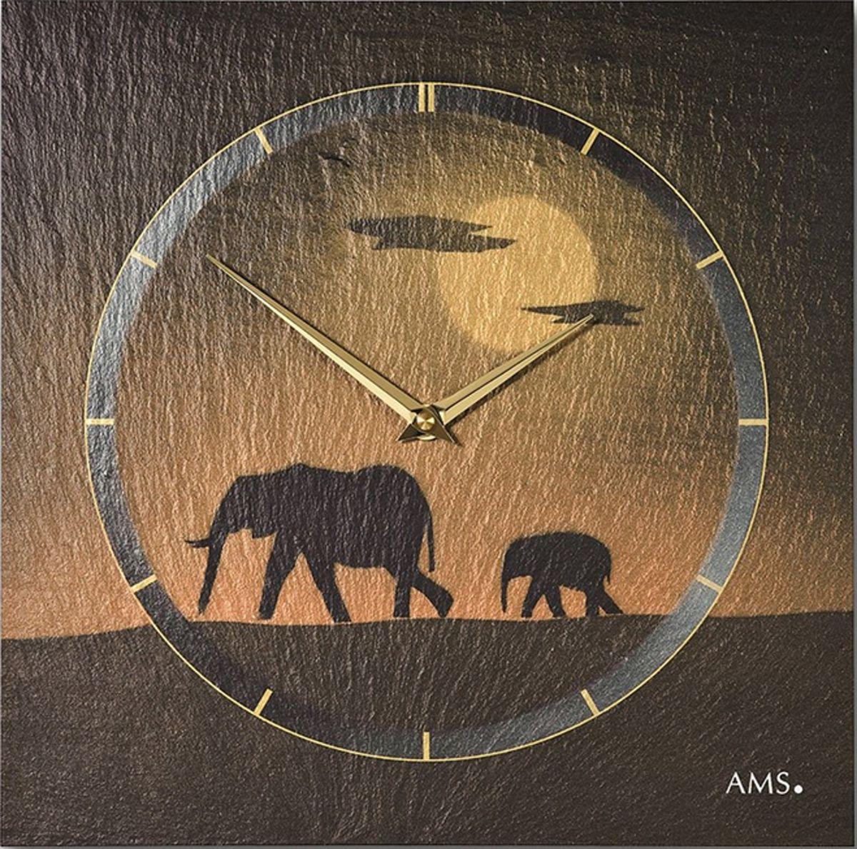 nástěnné hodiny slon břidlice