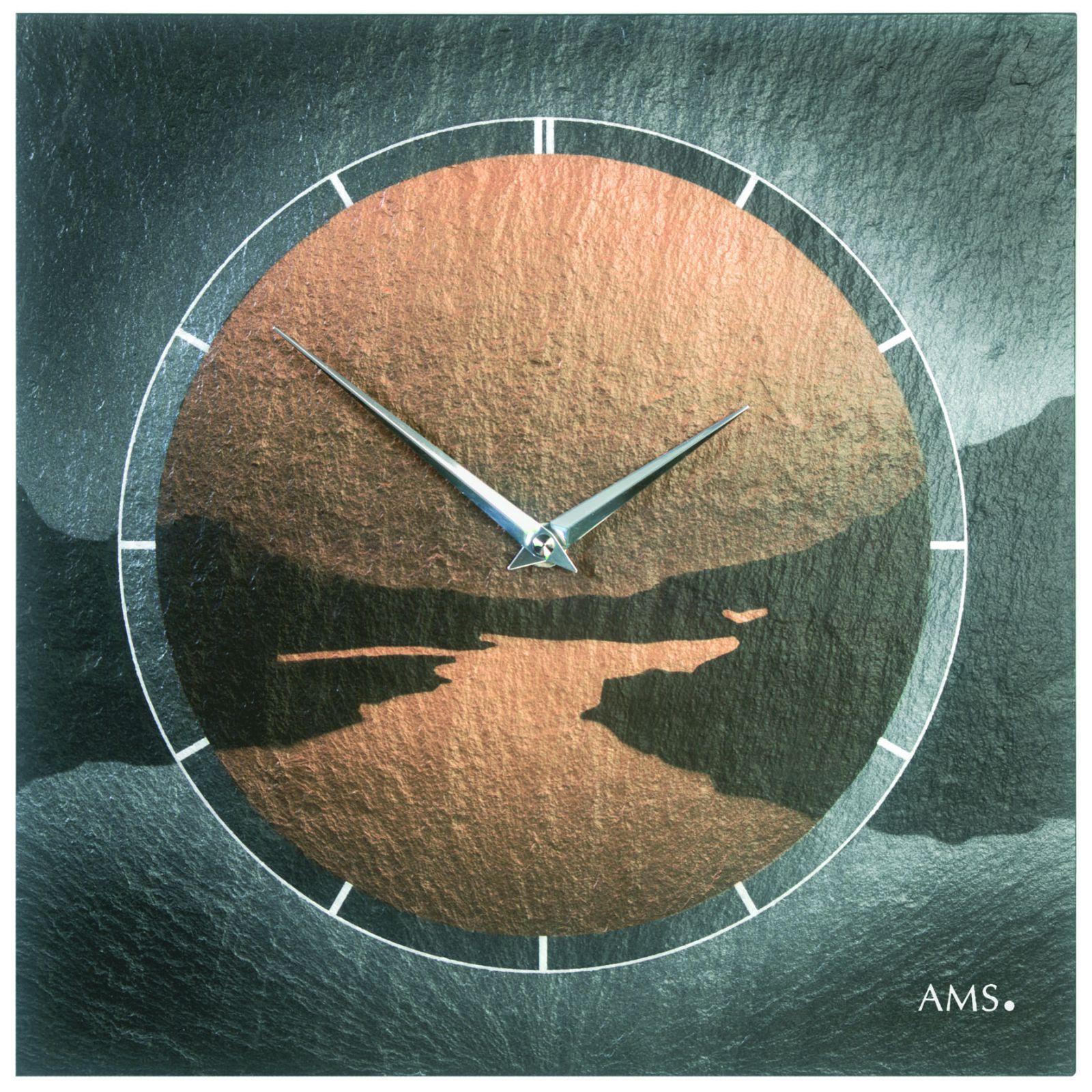 Moderní nástěnné hodiny AMS 9513 řízené rádiem
