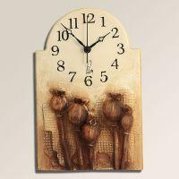 Retro keramické nástěnné hodiny Makovičky