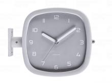 Designové oboustranné nástěnné hodiny 5831GY Karlsson 29cm