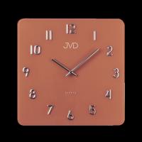 Nástěnné skleněné hodiny JVD čtvercové vzhledu