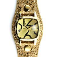 Moderní dámské hodinky se vzorovaným koženým řemínkem ve stříbrném provedení W02M.10971