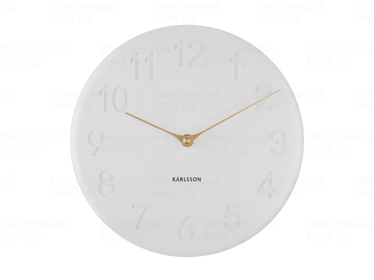 Designové nástěnné hodiny Karlsson KA5771WH