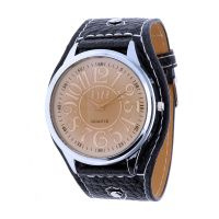Retro pánské hodinky s koženým řemínkem W01V.11158