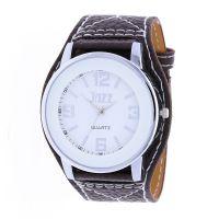 Pánské hodinky s koženým řemínkem W01V.11162