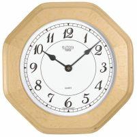 Dřevěné nástěnné hodiny na zeď, hranaté osmihranné hodiny na stěnu dřevěné