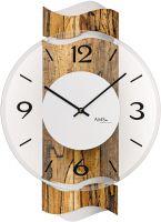 Designové nástěnné hodiny kulaté ams 9622 severní bříza
