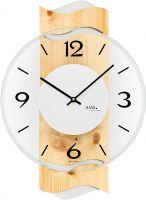 Designové nástěnné hodiny kulaté ams 9623 borovice