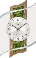 Nástěnné hodiny rádiem řízený čas ams 5517 zelená