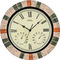 Nástěnné hodiny designové kulaté ams 9620 barva mix venkovní