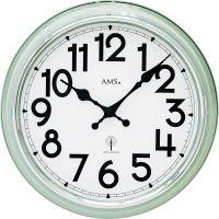 Nástěnné hodiny rádiem řízený čas ams 5510 světlá zelená