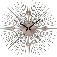 Designové hodiny velké ams 9610 motiv sluníčko antracitová