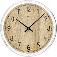 Nástěnné hodiny velké, kulaté ams 9631 sonoma