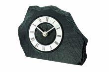 Stolní hodiny quartzové ams 1104 břidlice stříbrná černá