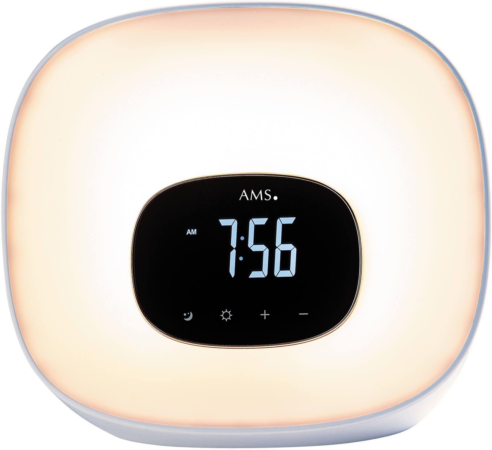 Stolní hodiny digitální ams 1302 šedá