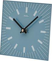 Stolní hodiny quartzové ams 1157 modrá čtverec