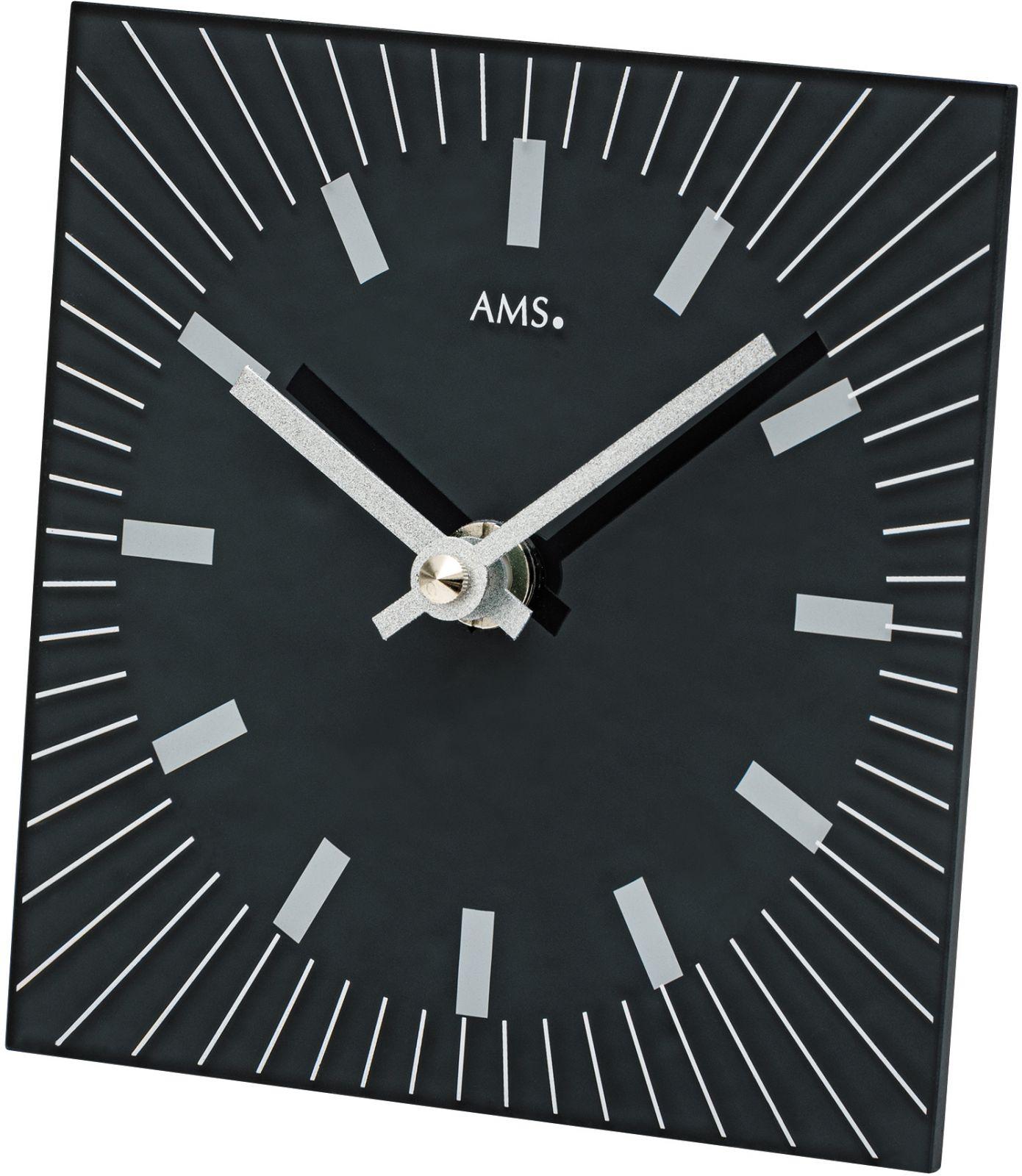 Stolní hodiny quartzové ams 1158 černá čtverec