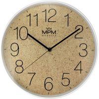 Elegantní plastové hodiny v korkovém nebo textilním designu E01.4046