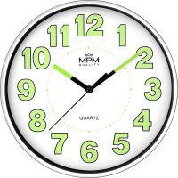 Nástěnné plastové hodiny s luminiscenčními číslicemi a ručičkami E01.3684