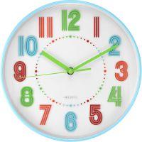 Plastové nástěnné hodiny s barevnými číslicemi E01.4047