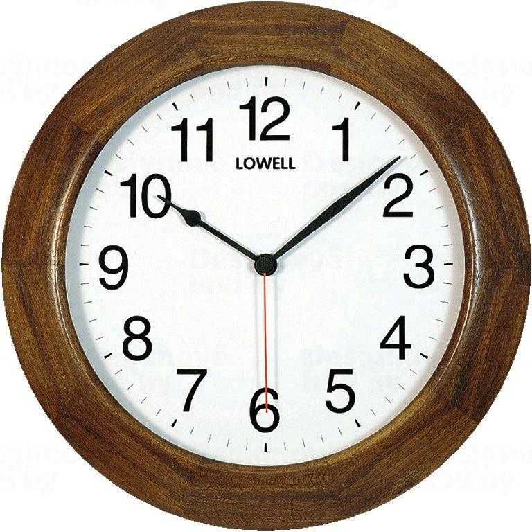 Kulaté hodiny Lowell L00504N