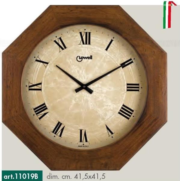 Lowell Italy Zajímavé dřevěné nástěnné hodiny s tichým plynulým chodem