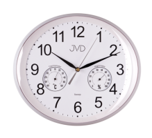 Nástěnné hodiny ovál JVD HTP64.1 bílá barva