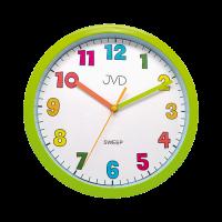 Nástěnné hodiny kulaté zelená JVD sweep HA46.4