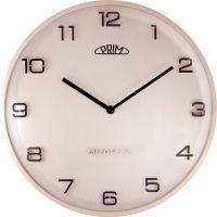 Nástěnné plastové hodiny PRIM Bloom kombinují retro a moderní jednoduchý styl. Na číselníku jsou arabské číslice, které jsou v 3D provedení. Tyto hodiny mají vypouklé sklo, které dod