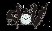 Nástěnné hodiny Hudební nástěnné designové hodiny JVD HJ70 pro hudebníky IHNED Nástěnné hodiny