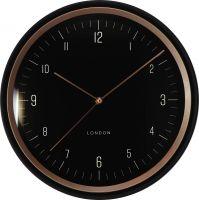 Plastové hodiny London v jednoduchém a moderním designu se špetkou luxusu E01.4059