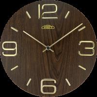 Dřevěné nástěnné hodiny PRIM Timber Noble mají výrazné 3D číslice a indexy z kovu. Působí ušlechtilým a jednoduchým dojmem.Hodiny jsou vybaveny strojkemQuartz Taiwan E01P.4084