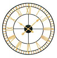 Velké designové hodiny ams 9647 zlatá římské číslice