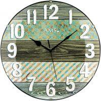 Rádiem řízené hodiny skleněné AMS 5556