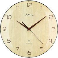Rádiem řízené hodiny skleněné AMS 5557