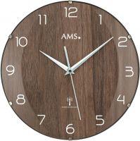 Rádiem řízené hodiny skleněné AMS 5558