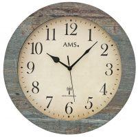 Designové nástěnné hodiny 5562 AMS řízené rádiovým signálem 35cm