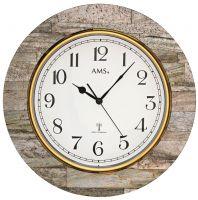 Designové nástěnné hodiny 5569 AMS řízené rádiovým signálem 50cm