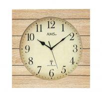 Designové nástěnné hodiny 5551 AMS řízené rádiovým signálem 34cm