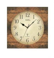 Designové nástěnné hodiny 5550 AMS řízené rádiovým signálem 34cm