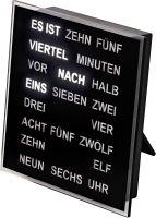 Slovní hodiny AMS 1232 černá