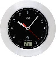 Koupelnové hodiny ams 5919 rádiem řízené černá