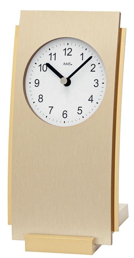 Stolní hodiny quartové 1153 AMS 19cm světlá mosaz