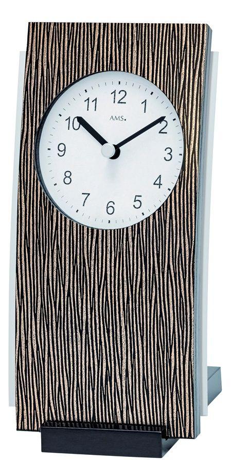 Stolní hodiny quartzové 1149 AMS 19cm hnědá