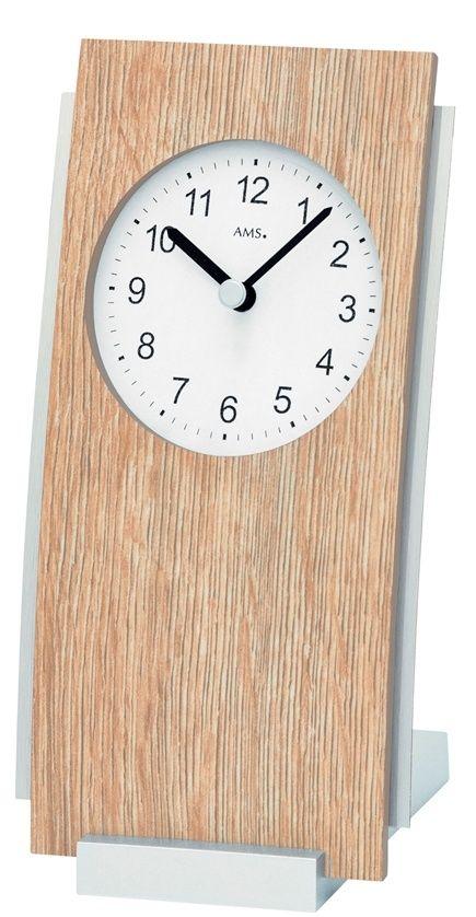 Stolní hodiny quartzové 1151 AMS 19cm světlé dřevo SONOMA