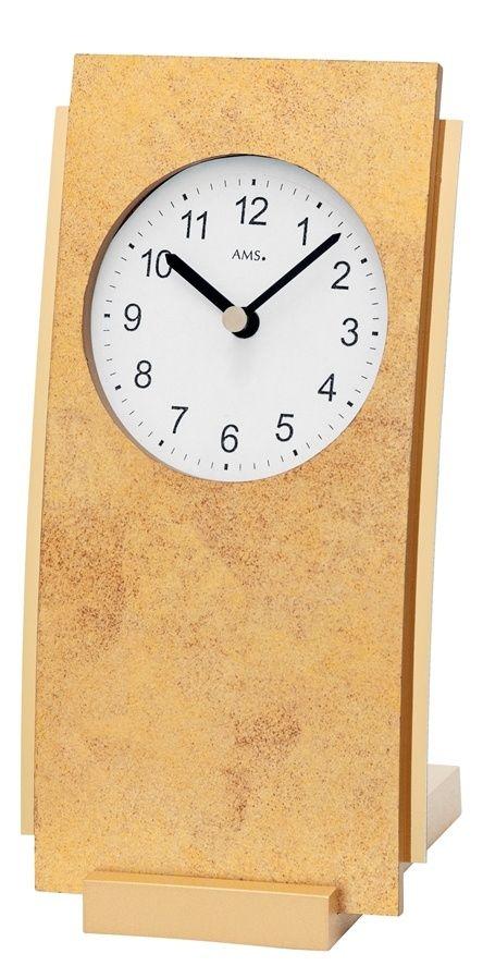 Stolní hodiny quartzové ams 1150 mosaz zlatá antik