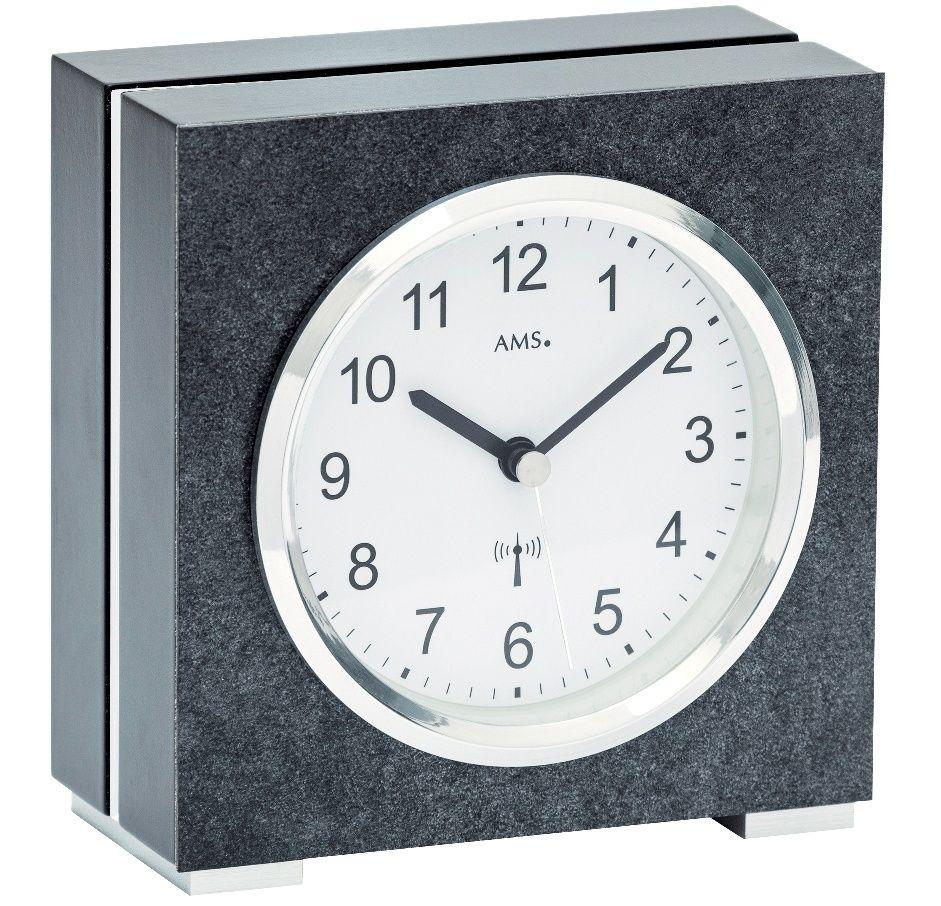 Stolní hodiny rádiem řízené ams 5152 černá