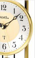 Stolní hodiny rádiem řízené ams 5193 zlatá